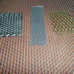 образцы сетки из латуни, алюминия и металла